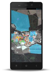 smartphone carte 211x300 Partenariat Game Fair – Naturapass: utilisez Naturapass pour vous déplacer sur le salon!