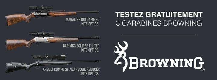 visuel campagne browning 01 720 Envie de tester gratuitement une carabine Browning ?
