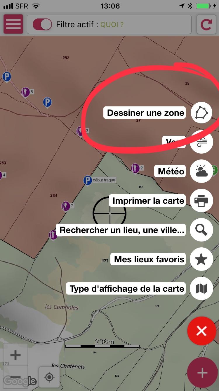 visuel naturapass2 Naturapass permet de dessiner vos territoires ou vos traques directement sur le cadastre et les cartes IGN